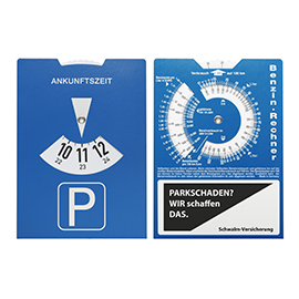 Carton parking disc